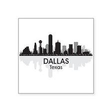 """Dallas Skyline Square Sticker 3"""" x 3"""""""