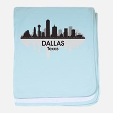 Dallas Skyline baby blanket