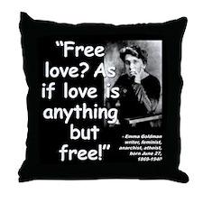 Goldman Love Quote 2 Throw Pillow