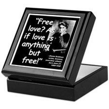Goldman Love Quote 2 Keepsake Box