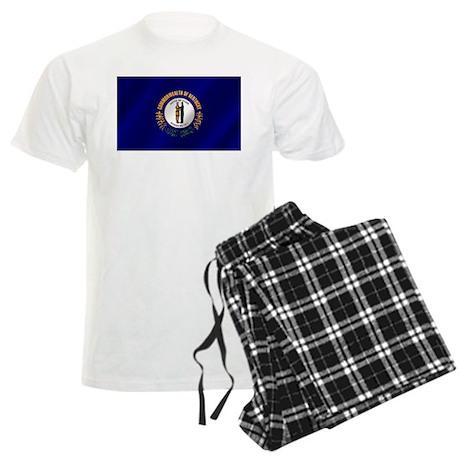 Kentucky State Flag Men's Light Pajamas