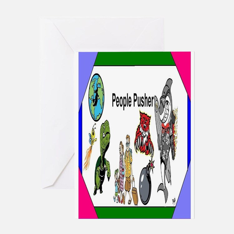 People Pusher Greeting Card