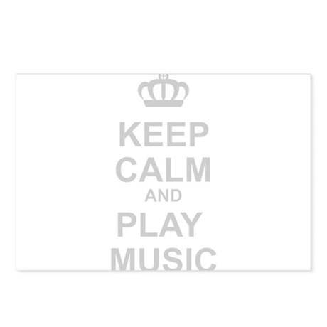 Keep Calm And Play Music Postcards (Package of 8)