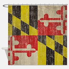Vintage Maryland Flag Shower Curtain