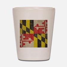 Vintage Maryland Flag Shot Glass