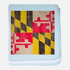 Vintage Maryland Flag baby blanket