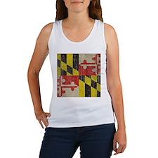 Vintage Maryland Flag Women's Tank Top