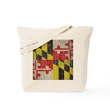 Vintage Maryland Flag Tote Bag