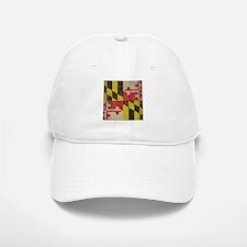Vintage Maryland Flag Baseball Baseball Cap