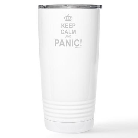 Keep Calm And Panic Stainless Steel Travel Mug