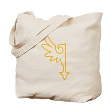 Gold One Winged Eagle Tote Bag