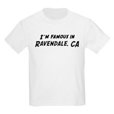 Famous in Ravendale Kids T-Shirt