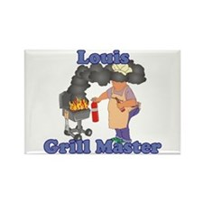 Grill Master Louis Rectangle Magnet