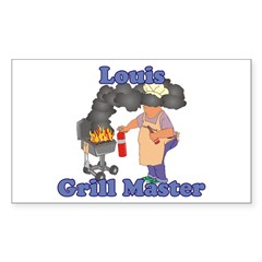 Grill Master Louis Sticker (Rectangle)