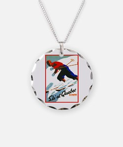 Canada Travel Poster 11 Necklace