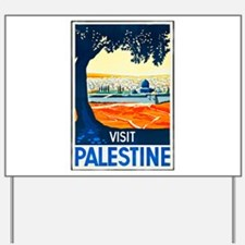 Palestine Travel Poster 1 Yard Sign