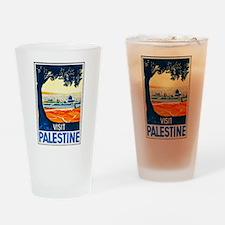 Palestine Travel Poster 1 Drinking Glass