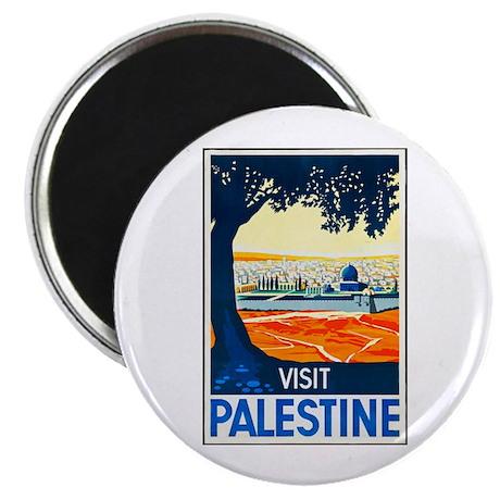 "Palestine Travel Poster 1 2.25"" Magnet (100 pack)"