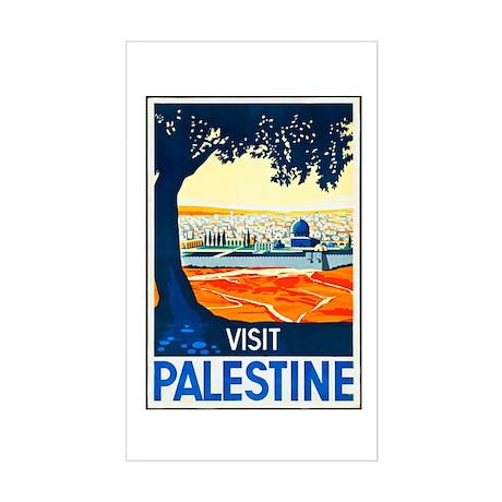 Palestine Travel Poster 1 Sticker (Rectangle)