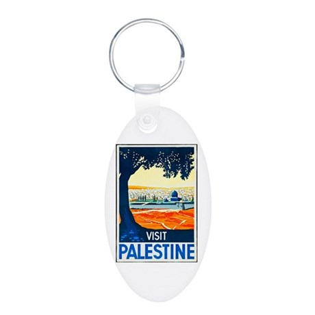 Palestine Travel Poster 1 Aluminum Oval Keychain