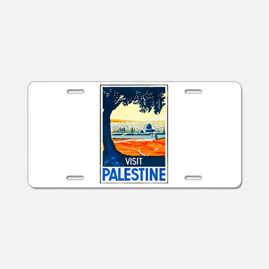 Palestine Travel Poster 1 Aluminum License Plate