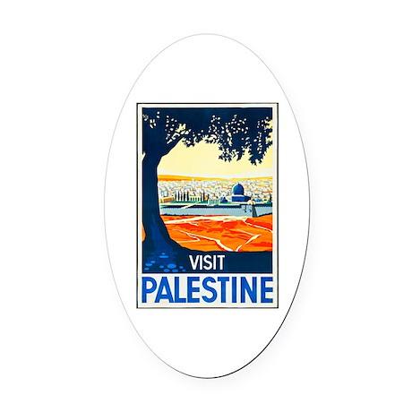 Palestine Travel Poster 1 Oval Car Magnet