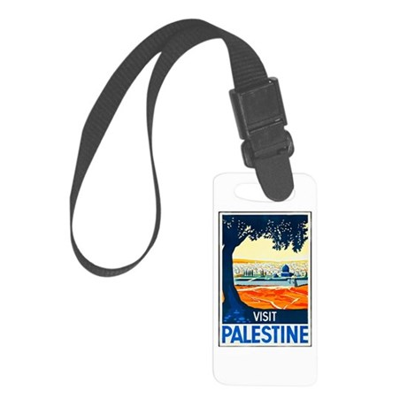 Palestine Travel Poster 1 Small Luggage Tag