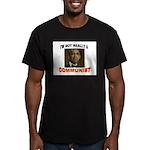 OBAMA COMMUNIST Men's Fitted T-Shirt (dark)