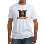 OBAMA COMMUNIST Fitted T-Shirt