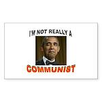 OBAMA COMMUNIST Sticker (Rectangle 50 pk)