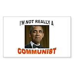 OBAMA COMMUNIST Sticker (Rectangle 10 pk)
