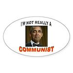 OBAMA COMMUNIST Sticker (Oval 50 pk)