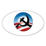 OBAMA COMMUNIST Sticker (Oval 10 pk)