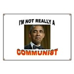 OBAMA COMMUNIST Banner