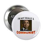 """OBAMA COMMUNIST 2.25"""" Button (100 pack)"""