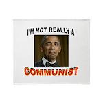 OBAMA COMMUNIST Throw Blanket