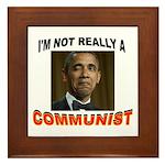 OBAMA COMMUNIST Framed Tile