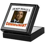 OBAMA COMMUNIST Keepsake Box