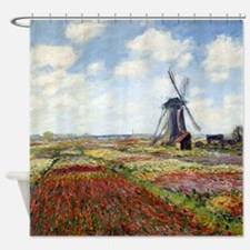 Monet A Field of Tulips Shower Curtain