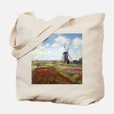 Monet A Field of Tulips Tote Bag
