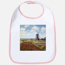 Monet A Field of Tulips Bib