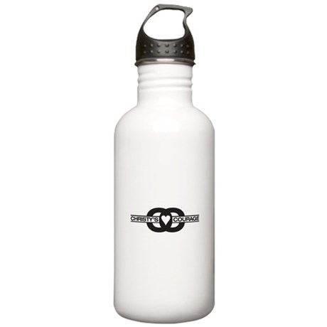 Christy's Courage Logo Stainless Water Bottle 1.0L
