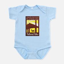 National Parks Travel Poster 3 Infant Bodysuit