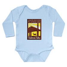 National Parks Travel Poster 3 Long Sleeve Infant