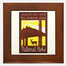 National Parks Travel Poster 3 Framed Tile