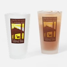 National Parks Travel Poster 3 Drinking Glass