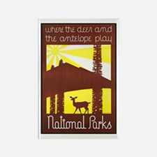 National Parks Travel Poster 3 Rectangle Magnet