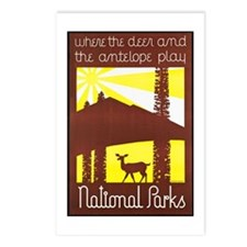 National Parks Travel Poster 3 Postcards (Package