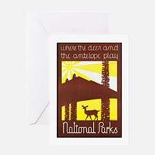 National Parks Travel Poster 3 Greeting Card