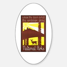 National Parks Travel Poster 3 Decal